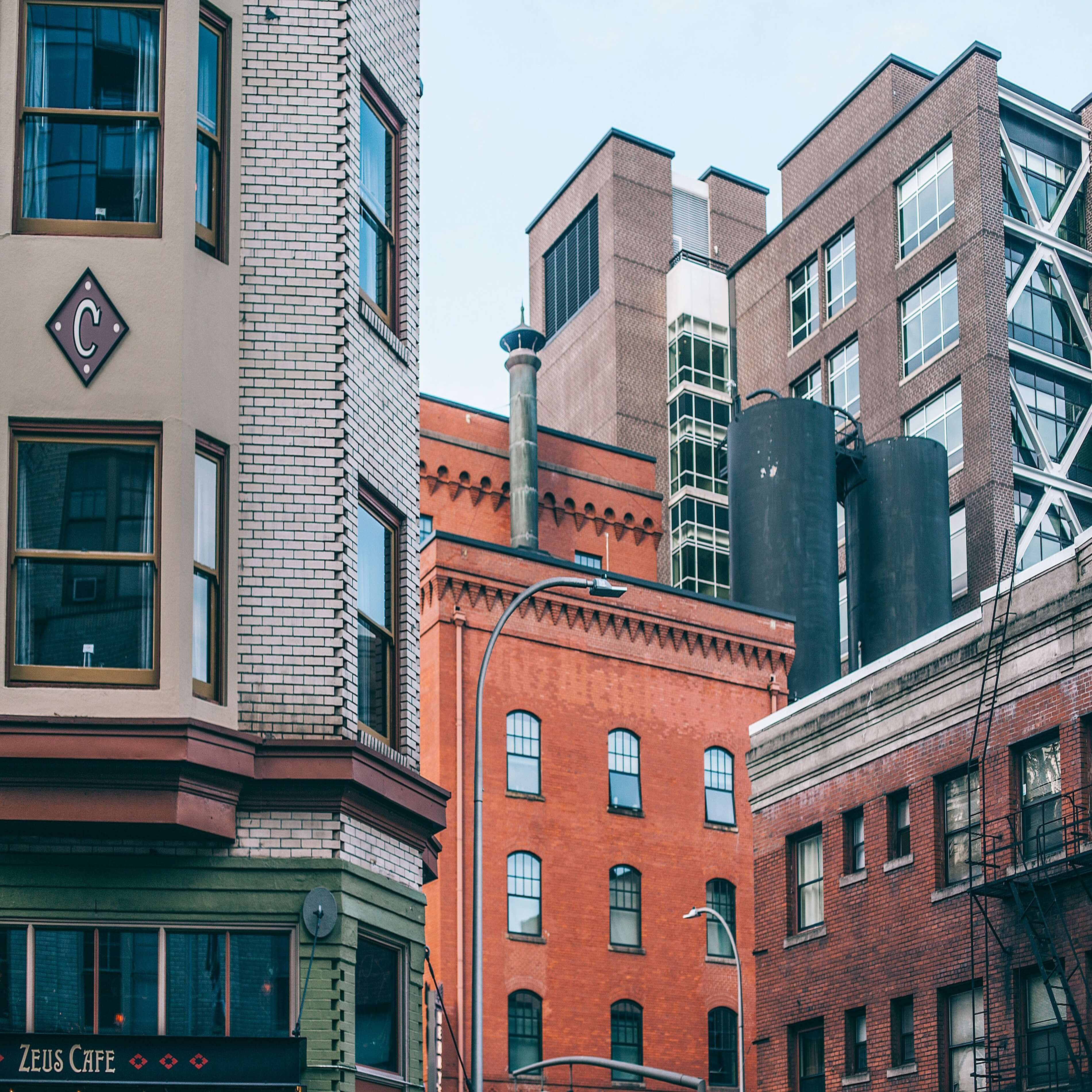 Ensemble de bâtiments urbains