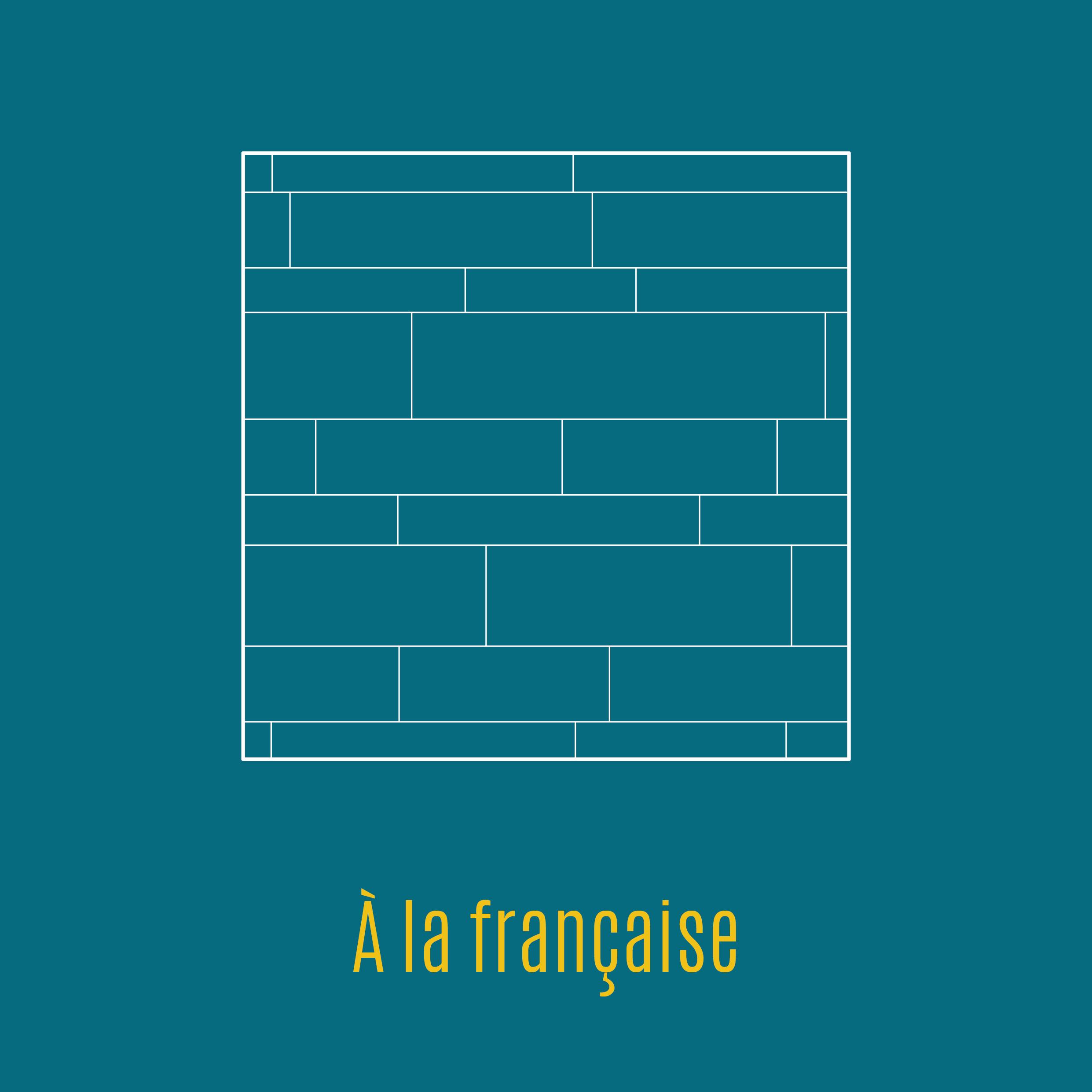 Illustration parquet pose à la française