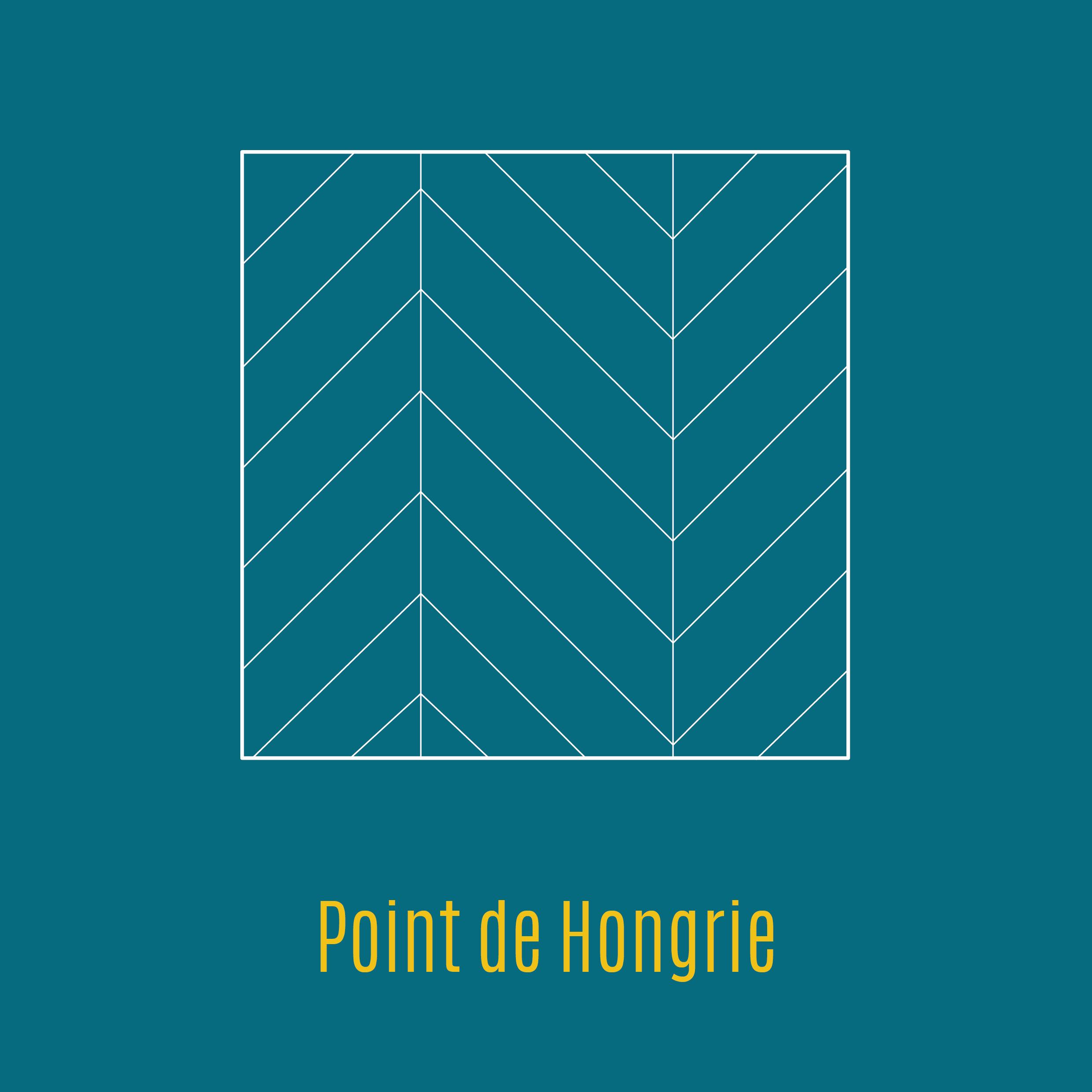 Illustration parquet chevron point de Hongrie