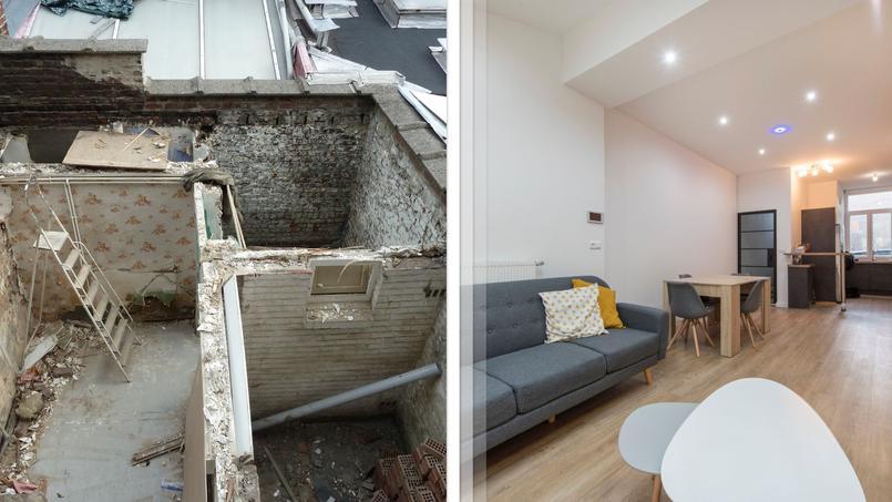 rénovation avant après maison roubaix moderne