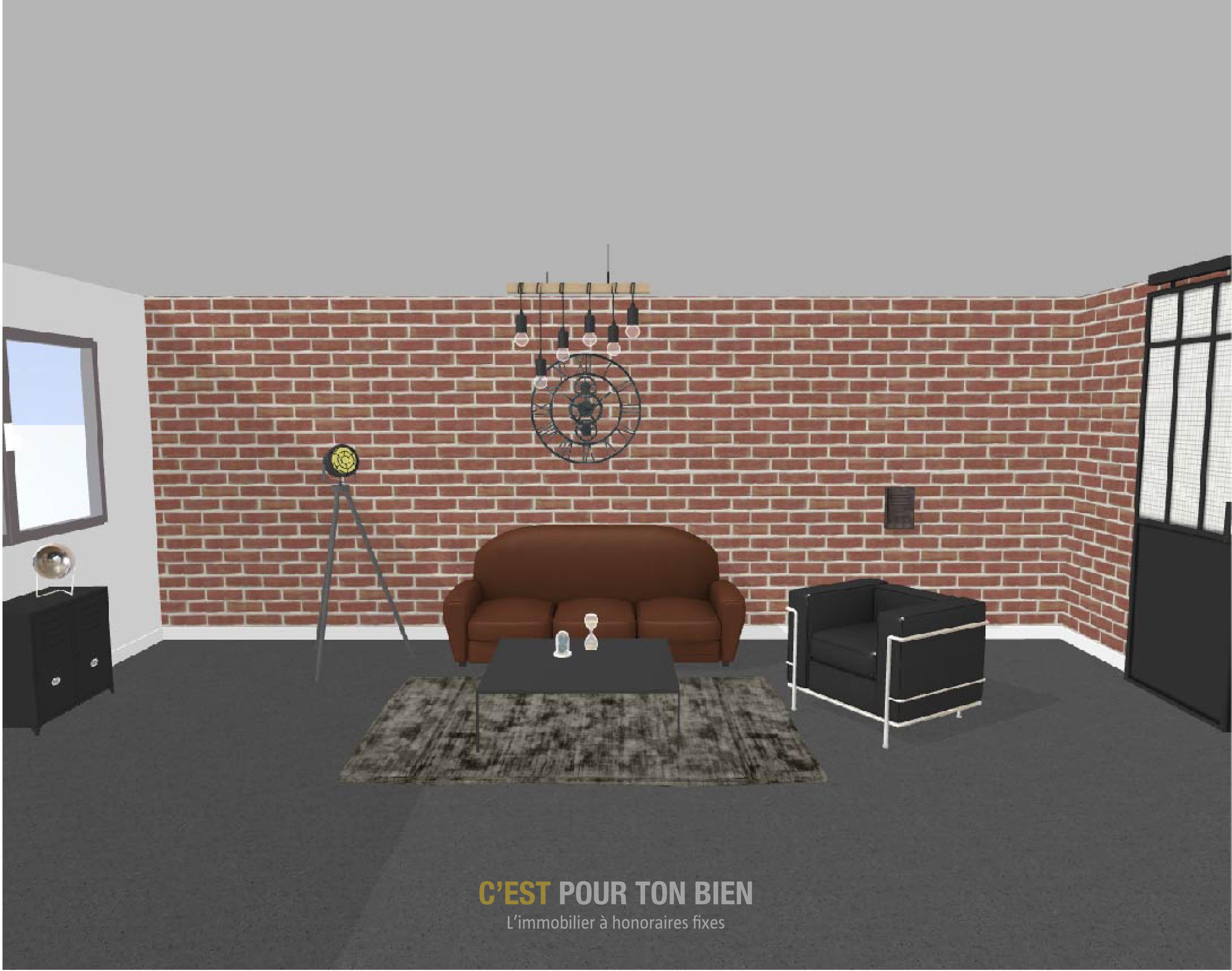 Illustration d'un intérieur industriel