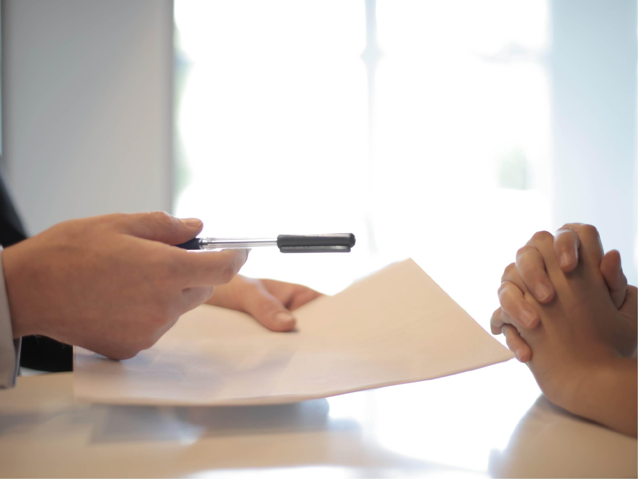 Demande de signature papier