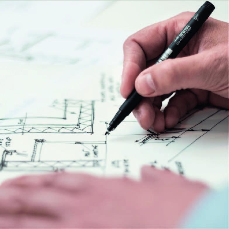 Création d'un plan d'une maison avec un stylo